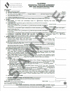 California Residential Purchase Agreement