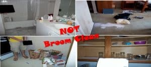 Broom Swept Clean Condition